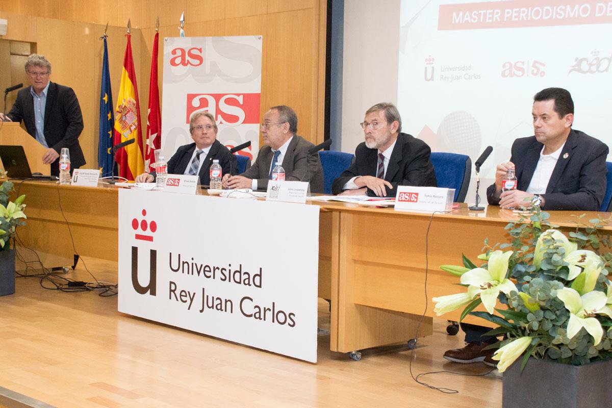 La URJC y el Diario AS presentan su 'Máster de Periodismo Deportivo'