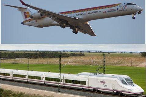 La competencia entre aerolíneas y trenes de alta velocidad