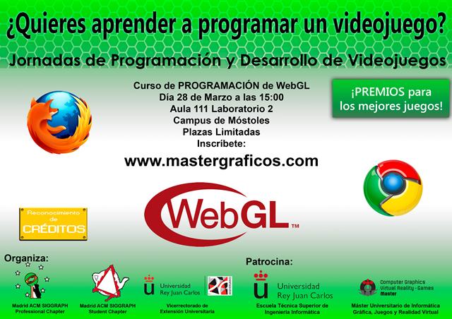 La URJC organiza una jornada sobre programación de videojuegos en WebGL
